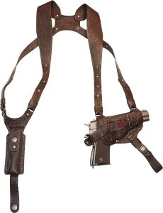 leather shoulder holster for gun