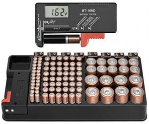 The Battery Storage Organizer Case and Battery Tester