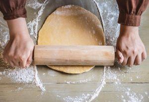 rolling dough for hard tack
